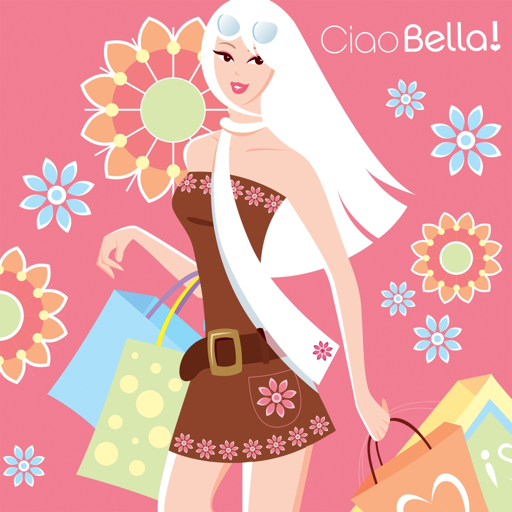 CIAO BELLA illustrations of sexy girls, illustration by Cathy Yersin
